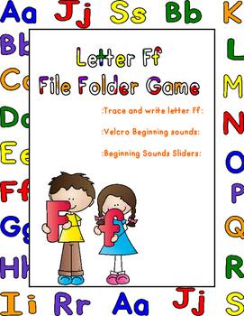 Letter Ff File Folder Game