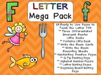 Letter Ff Mega Pack- Kindergarten Alphabet- Handwriting, L