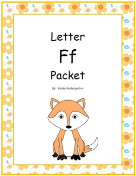 Letter Ff Phonics and Writing Pack