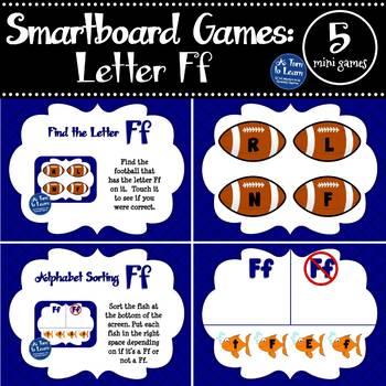 Letter Ff Smartboard Games (5 mini games) (Smartboard/Promethean Board)