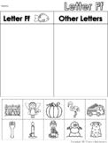 Letter Ff Beginning Sound Sort/Phonemic Awareness