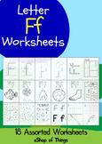 Letter Ff Worksheets Coloring Tracing Phonics Alphabet Dab letter Find letter