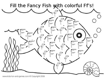 Letter Ff fish