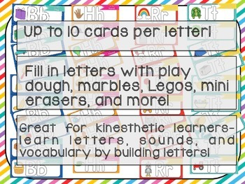 Letter Builder Cards- A Kinesthetic Literacy Center