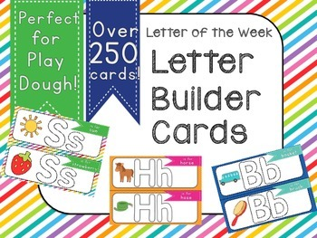 Letter Builder Cards- A Kinesthetic Literacy Center