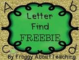 Letter Find Freebie