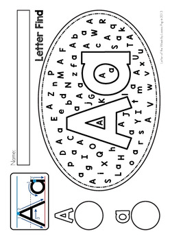Alphabet Letter Find Upper And Lower Case Letters By