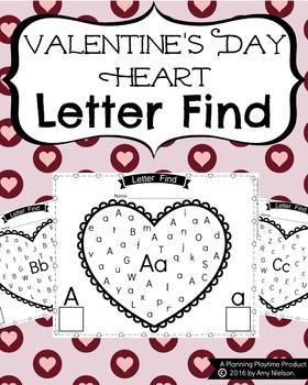 Letter Find - Valentine's Theme