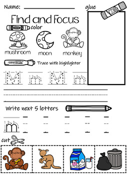 Letter Find and Focus Freebie
