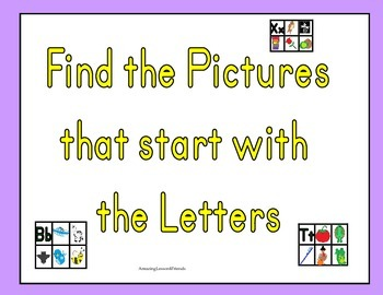 Letter Finding Picture Cards