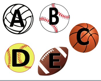 Letter Flashcards - Sports