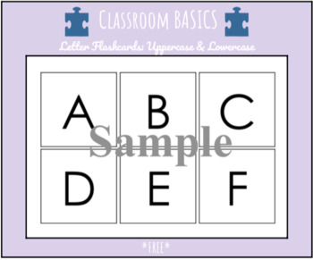 Letter Flashcards: Uppercase and Lowercase *FREE*