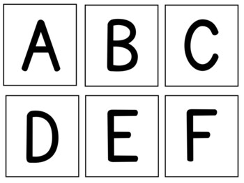 Letter Flashcards (uppercase and lowercase)