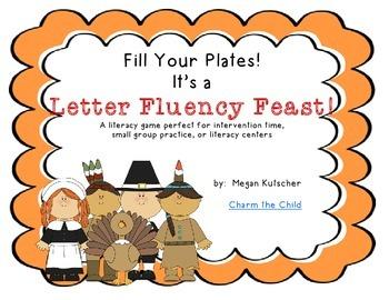 Letter Fluency Feast Literacy Game