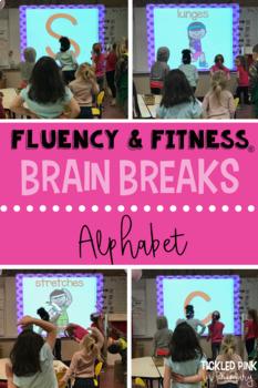 Letters Fluency & Fitness Brain Breaks Bundle