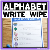 Alphabet Activities - Write and Wipe Letter Formation