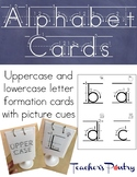 Letter Formation Alphabet Cards in Upper and Lower Case