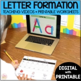 Letter Formation - Alphabet Tracing Worksheets with Videos