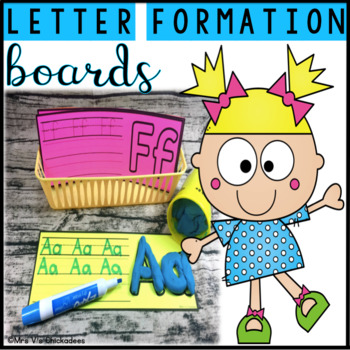 Letter Formation Boards: Center Activity