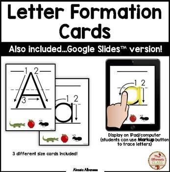 Letter Formation Cards (PDF and Google Slides™)