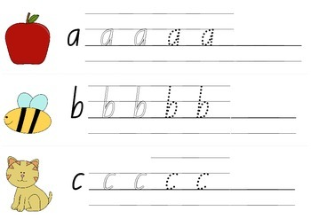 Letter Formation Cards * NSW Foundation Font
