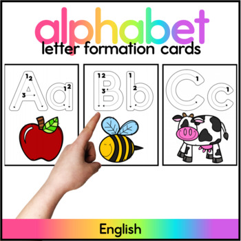 Letter Formation Cards - Spanish