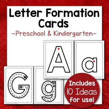 Letter Formation Cards (Use as Tracing Cards, Playdough Mats, or Posters!)