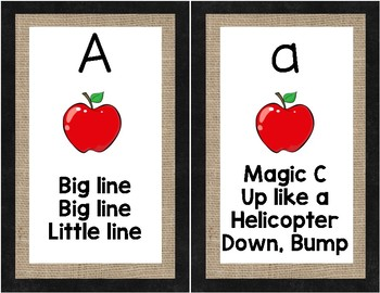 Letter Formation Cards for Handwriting Without Tears - Burlap