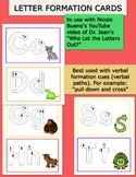"""Letter Formation Cards to use with Dr. Jean's song """"Who Le"""