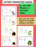 Letter Formation Cards to use with PHONICS 2 YouTube song