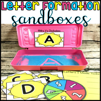 Letter Formation Center: Hands on Sandbox Activity