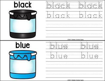 Letter Formation, Colors, and Shapes Bundle