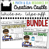 Letter Formation, Colors, and Shapes Bundle
