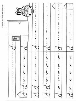 Letter Formation Cursive Grades 2-3