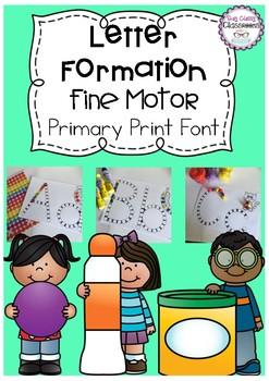 Letter Formation Fine Motor Printables - Primary Print Font