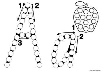 Letter Formation Fine Motor Printables - QLD Beginners Font