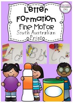 Letter Formation Fine Motor Printables - South Australian Print Font