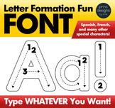 Alphabet Letter Tracing Font • Letter Formation Font • Writing Letters Font