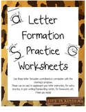 Letter Formation Handwriting Practice Sheets Freebie