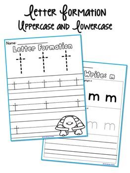 Letter Formation, Letter ID, and Letter Sound Printables Bundle (A-Z)
