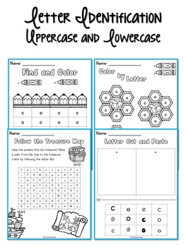 Letter Formation, Letter ID, and Letter Sound Printables (C,O)