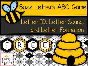 Letter Formation, Letter ID, and Letter Sounds Game: Freebie