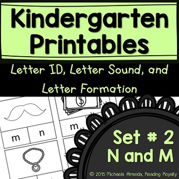 Letter Formation, Letter ID, and Letter Sound Printables (N,M)