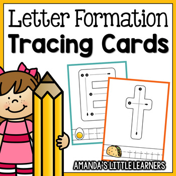 Letter Formation Cards - Playdough or Dry Erase
