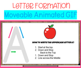 Alphabet Letters Formation Google Slides with Moveable Ima
