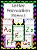 Letter Formation Poems
