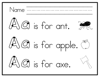 Letter Formation Practice A - Z