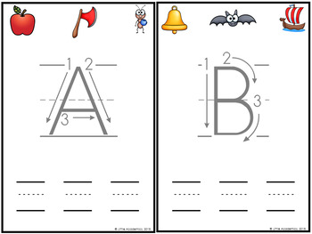 Letter Formation Practice Cards - Letter Sound and Letter Recognition