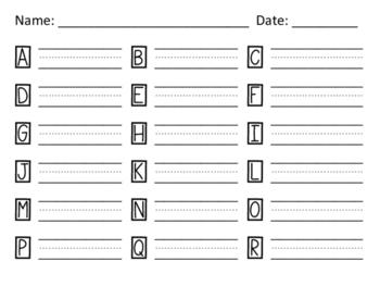 Letter Formation Practice (Landscape Layout)