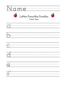 """Letter Formation Practice - Lower Case - 54 pt. (3/4"""")"""